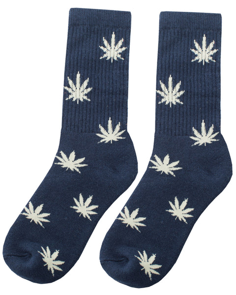 Hope Leaf Blue - Organic Hemp Socks