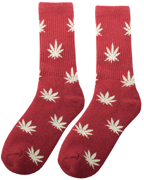 Hope Leaf Red - Organic Hemp Socks