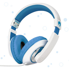 "RockPapa On Ear Stereo Headphones Earphones for Adults Kids Childs Teens, Adjustable, Heavy Deep Bass for iPhone iPod iPad Macbook Surface MP3 DVD SmartPhones Laptop (White/Blue)<br/><font size=""3"">UPC: 740690597427</font>"
