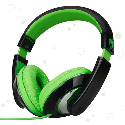 "RockPapa Over Ear Stereo Headphones Earphones, for Adults Kids Childs Boys Girls, Noise Isolating, Adjustable, Heavy Deep Bass for iPhone iPod iPad MP3 MP4 Players SmartPhones Computer Headphone Green & Black<br/><font size=""3"">UPC: 740690598172</font>"