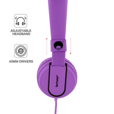 952 Matte Headphones Purple