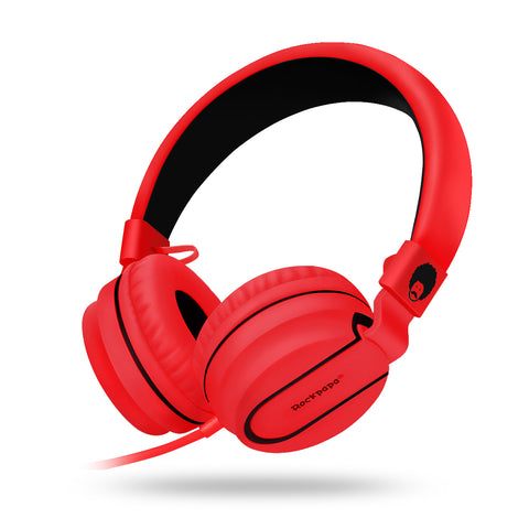952 Matte Headphones Red