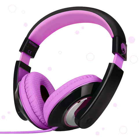 "RockPapa On Ear Stereo Headphones Earphones for Adults Kids Childs Teens, Adjustable, Heavy Deep Bass for iPhone iPod iPad Macbook Surface MP3 DVD SmartPhones Laptop (Black/Purple)<br/><font size=""3"">UPC: 740690597458</font>"