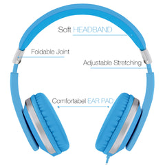 "RockPapa I22 Foldable Adjustable On Ear Headphones with Microphone for Kids/Adults iPhone iPad iPod Tablets MP3/4 DVD Computer Blue<br/><font size=""3"">UPC: 738770514549</font>"