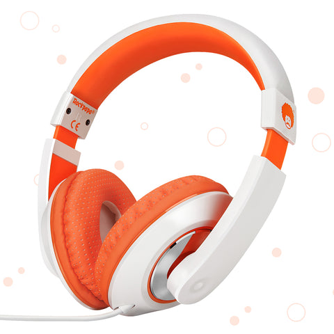 "RockPapa Over Ear Stereo Headphones Earphones, for Adults Kids Childs Boys Girls, Noise Isolating, Adjustable, Heavy Deep Bass for iPhone iPod iPad MP3 MP4 Players SmartPhones Computer Orange & White<br/><font size=""3"">UPC: 740690597434</font>"