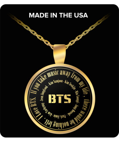 I Love BTS Fan Chant - Gold Plated Necklace