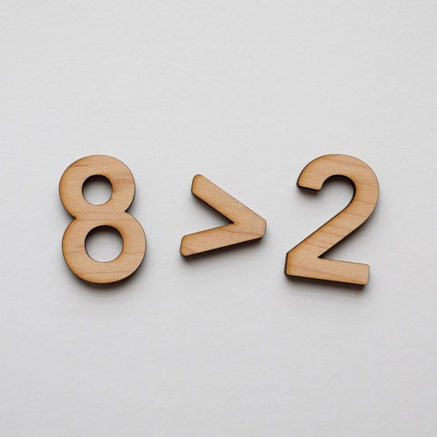 Wooden Number Set • Numerals & Math Equation Signs, Maple - COMING SOON