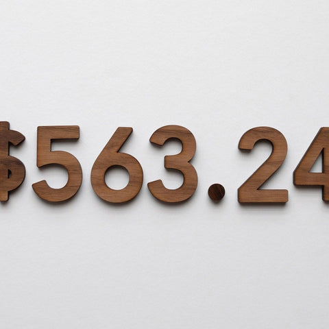 Wooden Number Set • Numerals & Math Equation Signs, Walnut - COMING SOON