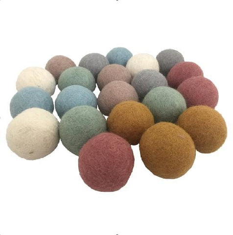 Earth Felt Balls (large)