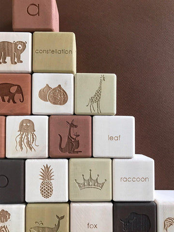 Alphabet Blocks - Olive
