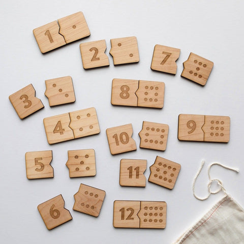 Wooden Number Match Puzzle • Modern Domino Style Kids Game COMING SOON
