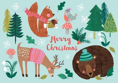 Postcard (Merry Christmas Animals)