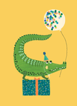 Birthday card (Party crocodile)