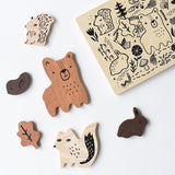 wooden tray puzzle (woodland animals)