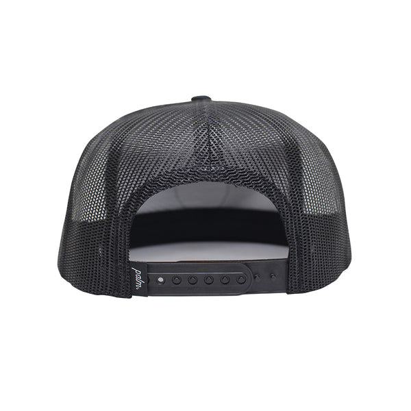 Local Snapback Trucker (Mid-Crown) - Black - Palm Golf Co.