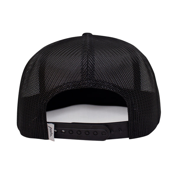The Roadie Trucker (Mid-Crown) - Black - Palm Golf Co.