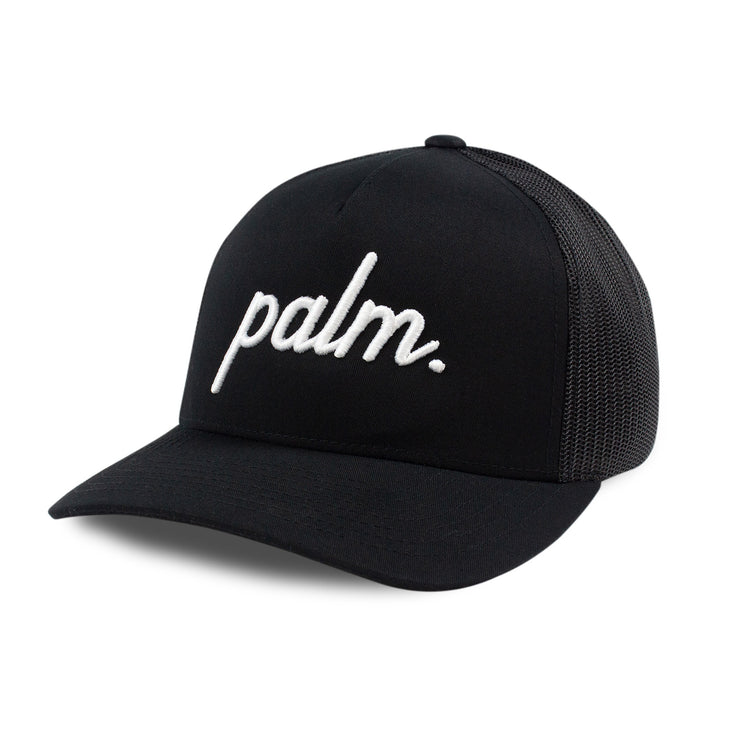 Palm Trucker (Mid-Crown) - Black - Palm Golf Co.