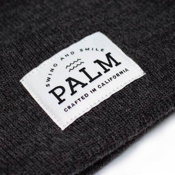 Sierra Beanie - Charcoal - Palm Golf Co.