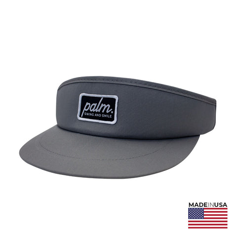 The Roadie Visor - Grey / Black - Palm Golf Co.