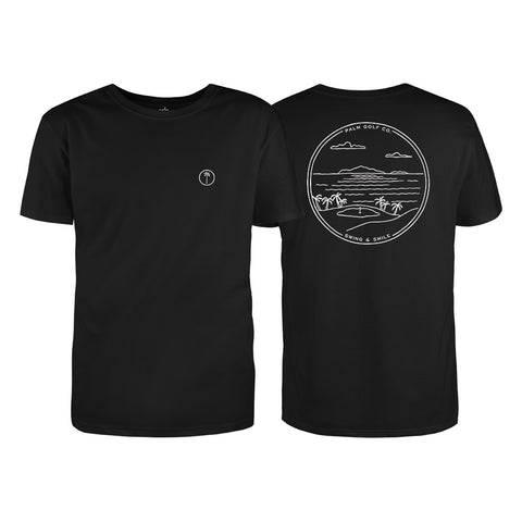 Par 3 Challenge T-Shirt - Black - Palm Golf Co.