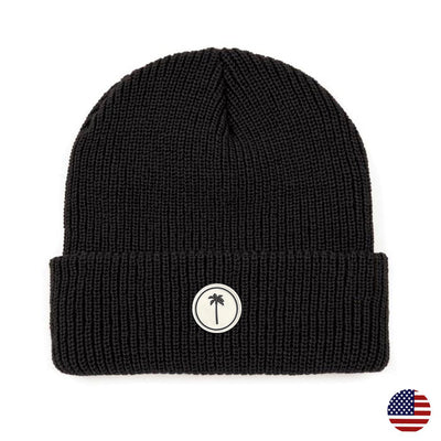 Lazy Palm Beanie - Black - Palm Golf Co.