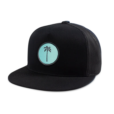 Local Snapback Trucker (High-Crown) - Aqua - Palm Golf Co.