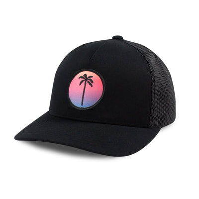 Local Snapback Trucker (Mid-Crown) - Sunset - Palm Golf Co.