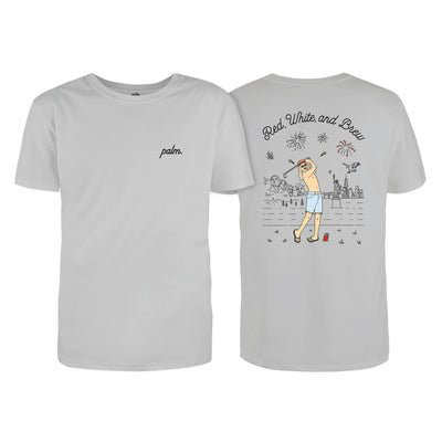 Red, White, and Brew T-Shirt - Palm Golf Co.