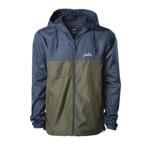 Mission Windbreaker - Navy/Olive - Palm Golf Co.