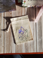 Load image into Gallery viewer, Crystal Cluster Tarot / Crystal / Rune Pouch