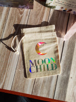 Load image into Gallery viewer, Moon Child Tarot / Crystal / Rune Pouch