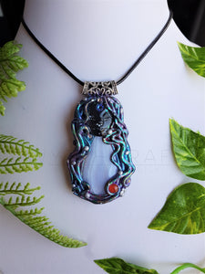 Blue Lace Agate Cosmic Goddess Pendant
