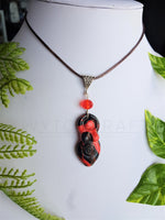 Load image into Gallery viewer, Red and Black Mini Goddess Pendant