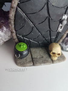 Gothic Fairy Door with Cauldron