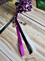 Load image into Gallery viewer, Purple Horseshoe Handfasting Cords - Custom Text Only