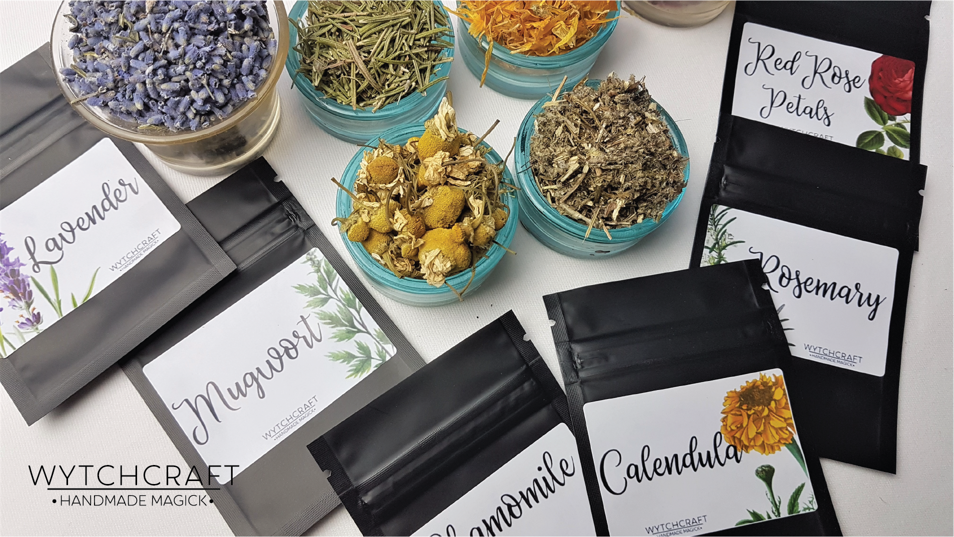Set of 6 Witchcraft Herbs | Herb Starter Kit