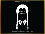 Load image into Gallery viewer, Wednesday Addams I Hate People Sticker