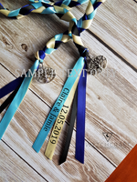 Load image into Gallery viewer, Blue Tree of Life Handfasting Cords - Custom Text Only