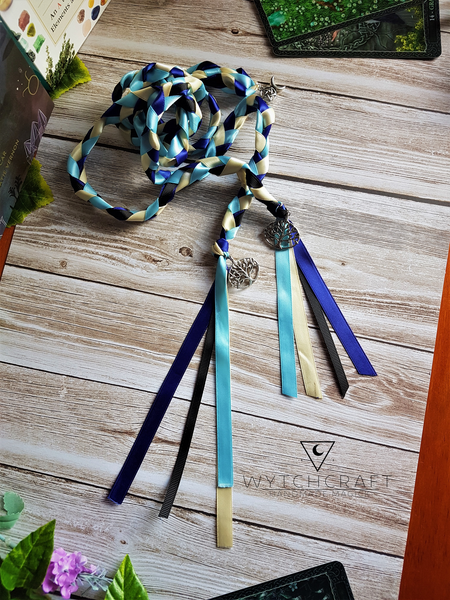 Customisable Blue Tree of Life Handfasting Cords