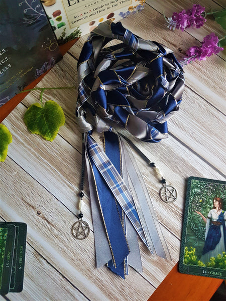 Customisable Blue Tartan Handfasting Cords