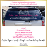 Load image into Gallery viewer, Custom Car Decal for Small Business