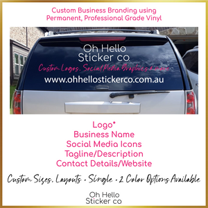 Custom Car Decal for Small Business