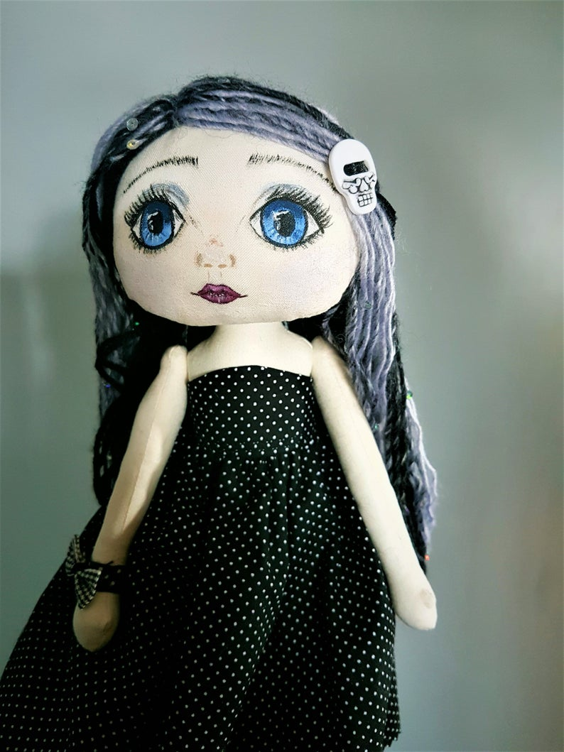 Dotty Handmade Art Doll