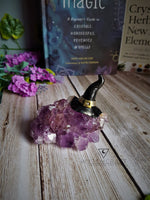 Load image into Gallery viewer, Amethyst Cluster Incense Holder - Witches Hat