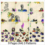 Load image into Gallery viewer, Gothic Floral PRINTED Junk Journal Kit