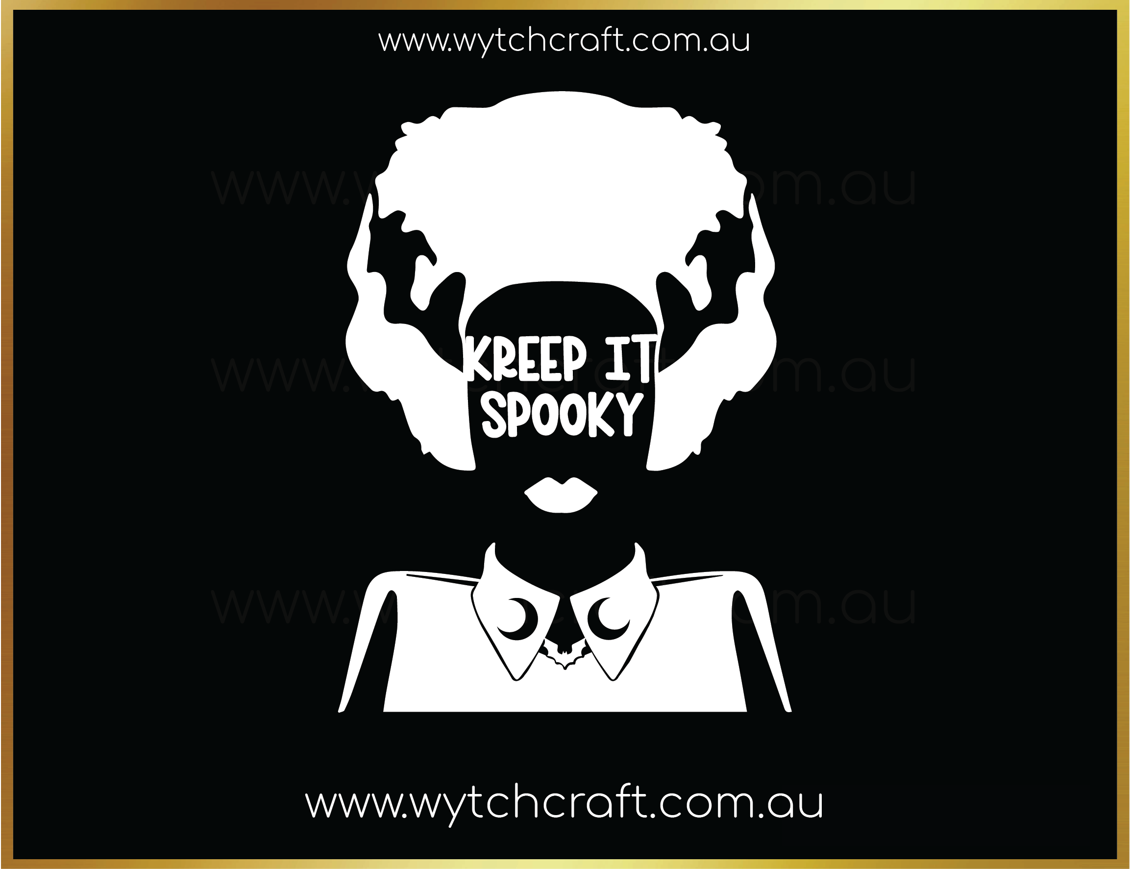 Kreep It Spooky Frankensteins Bride Sticker