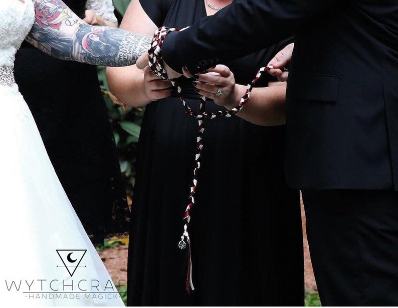 Bride & Groom Handfasting Cords - Custom Text Only