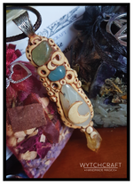Load image into Gallery viewer, Phrenite, Agate, Moonstone & Citrine Pendant