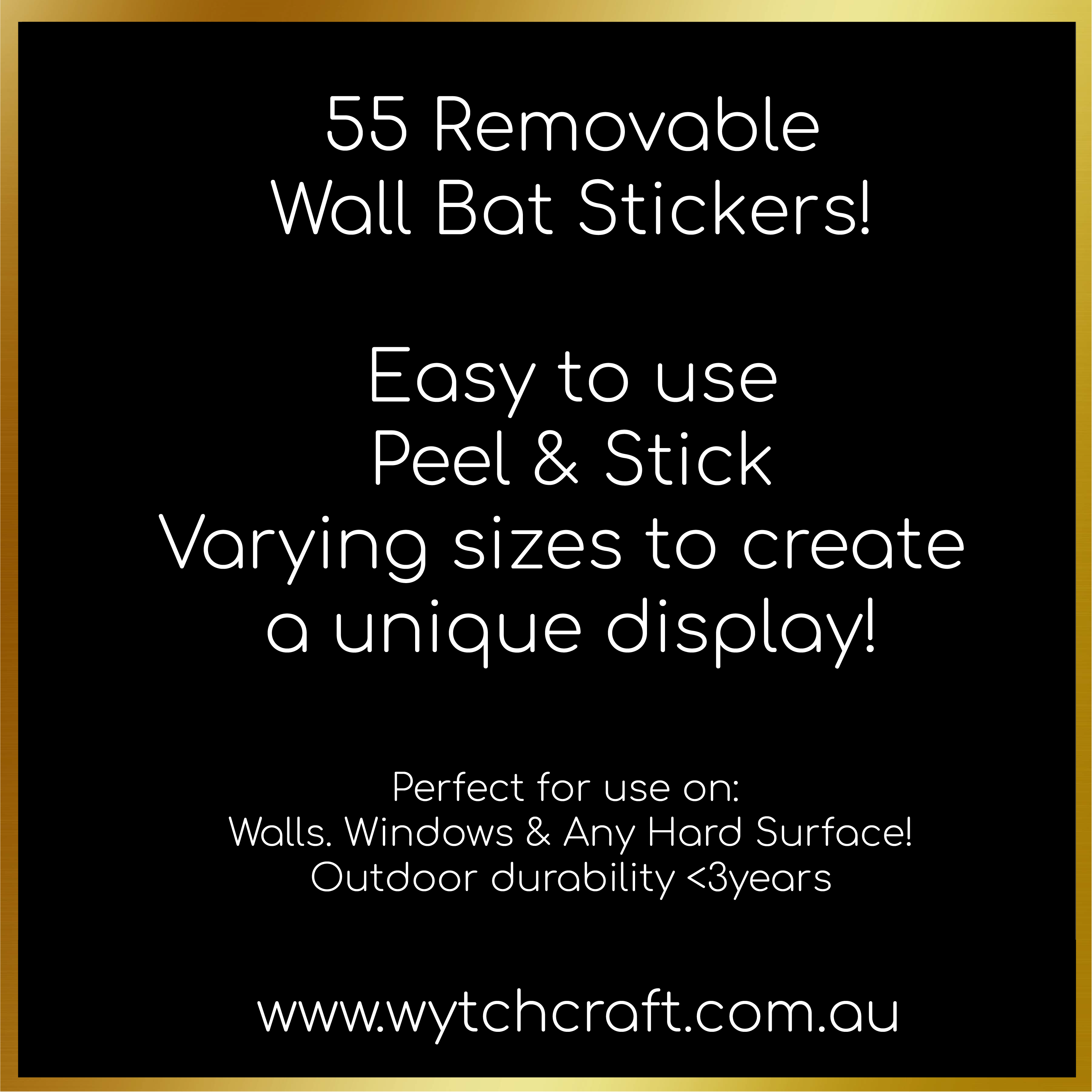 55 Removable Wall Bats
