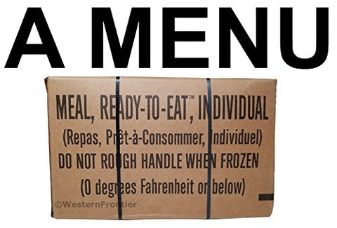 MRE 2018 Inspection Date Meals Ready-to-Eat, Case of 12 Genuine US Military Surplus